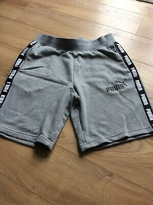 Puma Taped Grey Fleece Shorts Size Small