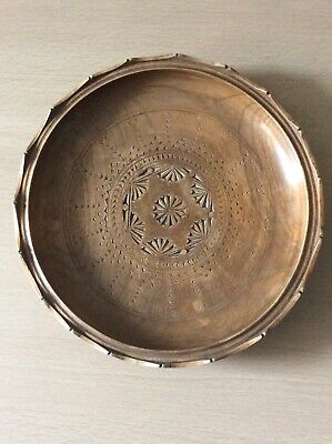 """Old Large Scandinavian wooden treen handcarved plate/dish """"Free Postage"""""""