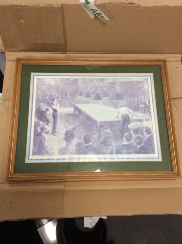 Snooker Billiard Print And Frame