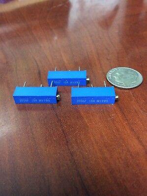 Trimpot Variable Resistor 3006p-104 Lot Of 3