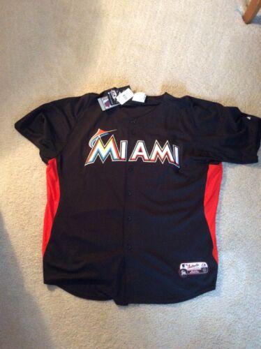 MLB Majestic Miami Marlins Cool Base Batting Practice 2XL Ba