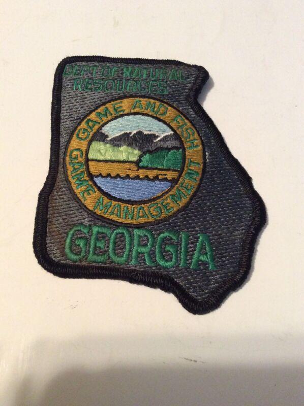 Ga. Game Fish Natural Resources Management Patch Insignia Georgia