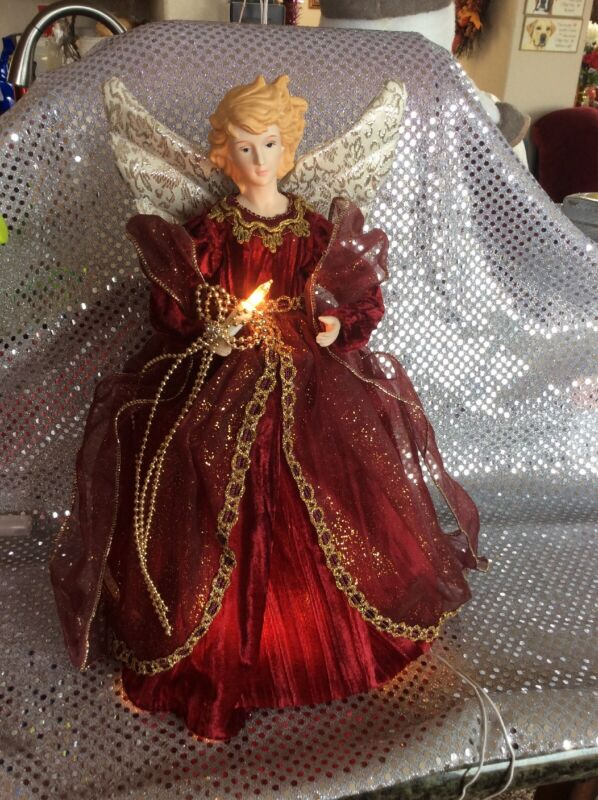 """Lighted Christmas Angel TreeTopper*In Original Box*Just Beautiful*approx 12""""tall"""