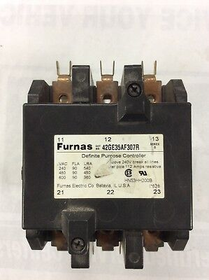 Furnas 42ge35af307r Definite Purpose Contactor 112a 240v 3 Pole