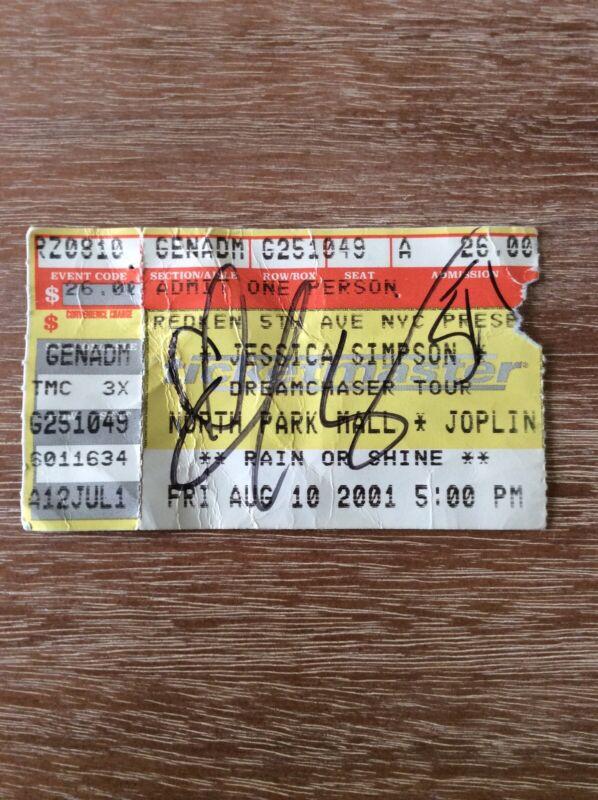 Jessica Simpson Signed Concert Ticket Autographed