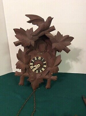 Vintage SCHATZ German Black Forest 8 Day Cuckoo Clock Parts or Repair
