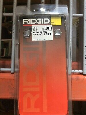 Ridgid 500b 48615 38 -n.c. High Speed Bolt Die Set