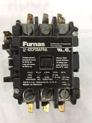 Furnas 42cf35afra Definite Purpose Magnetic Contactor 3 Pole 50 Amp