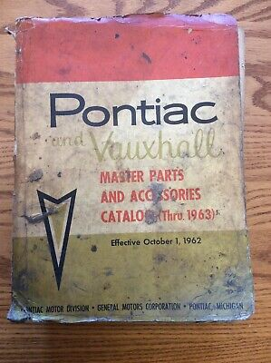 1935 To 1963 Pontiac And Vauxhall Master Parts And Accessories Catalog