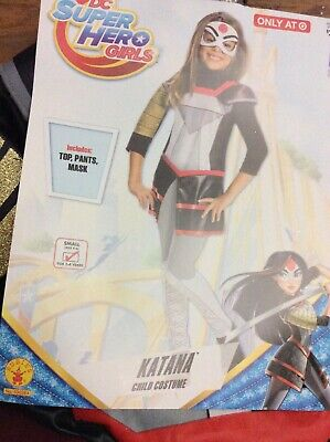 NWT DC Super Hero Katana Girl's Small Costume - Katana Girl Kostüm