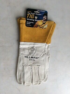 Tillman 24cxl Top Grain Kidskin Tig Welding Gloves X-large 4 Cuff