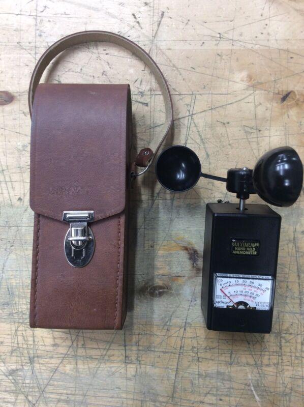 MAXIMUM BTC994 Hand Held Anemometer w/ Leather Case