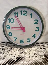 Karlsson Wall Clock 12 Round 3 Colors,  Working and Keeping time well