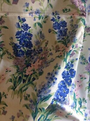 VINTAGE LAURA ASHLEY Stocks Fabric Lined Curtains