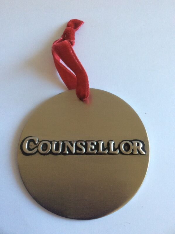 Metal Religious Christian Engraved Counsellor Christmas Ornament 3 Inches