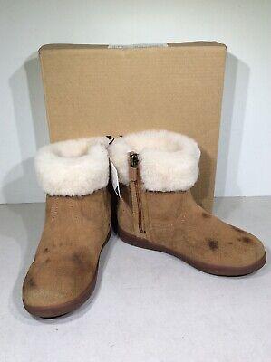 UGG Jorie II Toddler Girl's Size 12 Chestnut Brown Suede Zip Winter Boots (Jorie Brown)