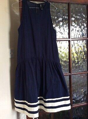 Ladies Karen Walker Size 10 Mainly Navy Summer Dress