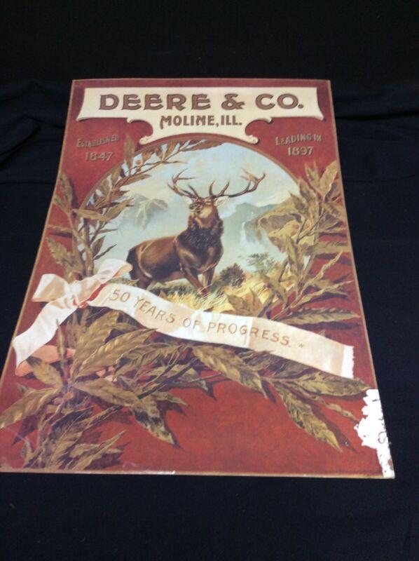 Deere & Co. Moline Ill 50 Years Of Progress Cardboard Poster