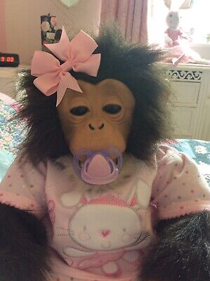 FUR REAL ELECTRONIC LIFELIKE BABY GIRL MONKEY DOLL IN LOVELY CLEAN CONDITION