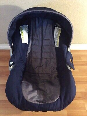 Eddie Bauer Baby Car Seat Cover Cushion Canopy Set Replacement Blue Gray Eddie Bauer Car Seat