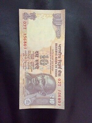 Tiger Note (New India 10 Rupees bank note 2014 Gandhi Rhino Elephant Tiger Fast)
