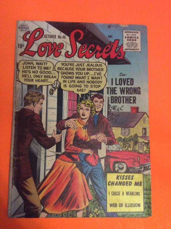 Love Secrets #46 Matt Baker Art Quality Comic 1955