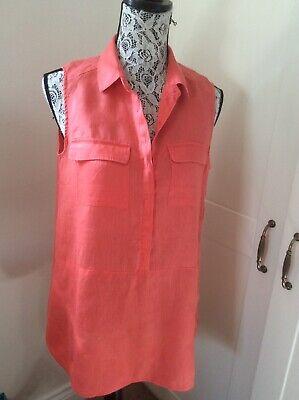 Ladies Orange Linen Blouse by Jones New York Size 12-14
