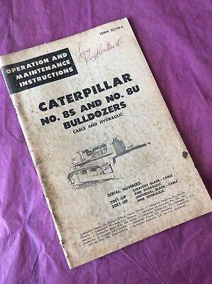 Cat Caterpillar 8s 8u Bulldozer Dozer Operator Maintenance Manual 29e 30e D8