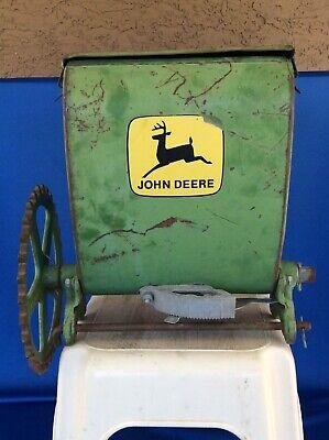 Vintage John Deere Seed Fertilizer Hopper Parts Yard Art B13829b