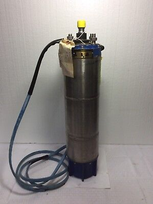 Pleuger Flowserve Submersible 6 Motor Type M62 5hp 460v 3phase Rpm 3450