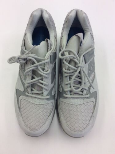 SAUCONY Men Hommes Casual Sneakers S70304-2 Grey Grid Size 9