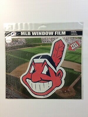 "Mlb Window Film (Cleveland Indians Car Perforated Window Shade Film Decal MLB 11"" x 9"" Made)"