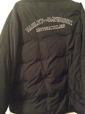 2XL Harley-Davidson Reversible(Camo And Black Nylon) Monogram Jacket