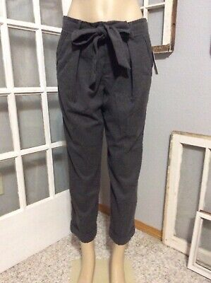 Cartonnier Size 6 Gray Cuffed Cropped Belted Anthropologie Pants $148