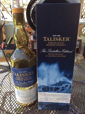 Talisker DISTILLERS EDITION Isle Of Skye Single Malt Scotch Whisky Bottle & (Isle Of Skye Scotch)