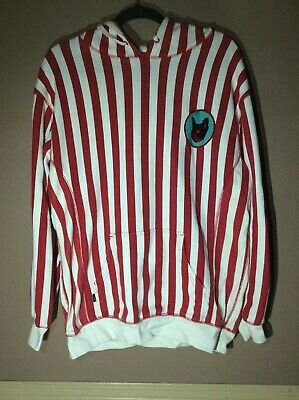 Golf Wang Red White Striped Pull Over Hoodie Tyler The Creator Size Medium