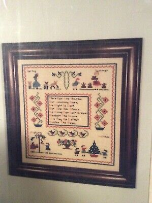 Four Seasons Sampler Cross Stitch Chart by McIntosh Samplers