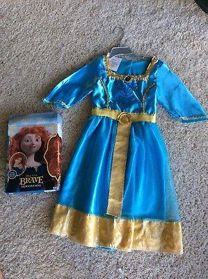 Girls Disney Princess Merida  Brave Costume And Her Wig Size 4-6 - Brave Merida Costume