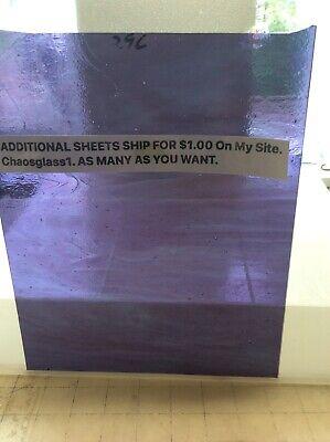 "#296 696 PURPLE 10"" X 8""  Y TRANSLUCENT PICs GLASS U GET ADD SHEET SHIP $1.00"
