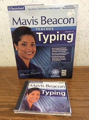 Mavis Beacon Teaches Typing Deluxe  Version 16 Big Box Vintage