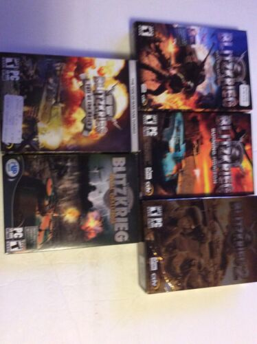 Computer Games - Blitzkrieg Computer Games Used Lot of 5