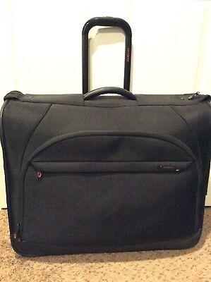 Samsonite Black Wheeled Garment Bag Rolling Travel Luggage Suit Case Bi-Fold