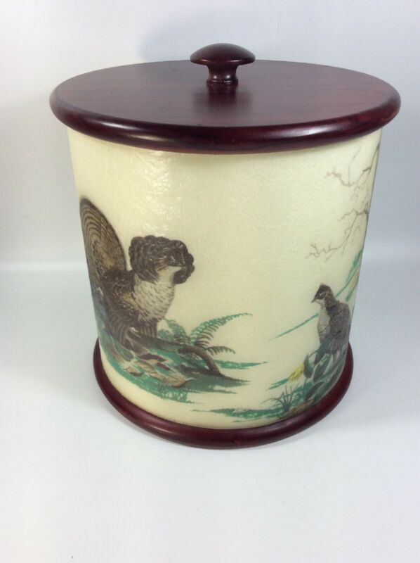 Vintage Pheasant Ice Bucket - Bar Ware Cabin, Cottage, Hunting Camp Decor