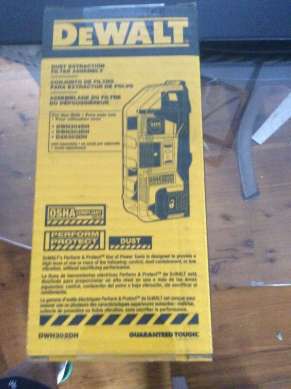 Dewalt Dust Extraction Filter Assembly DWH302DH. Brand New In Box.