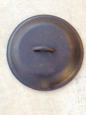 #9 Vintage Cast Iron Dutch Oven Pot Lid Only 6 Qt