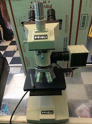 Meiji Ml7000 Metallugical Microscope Trinocular Head 20x 10x 4x