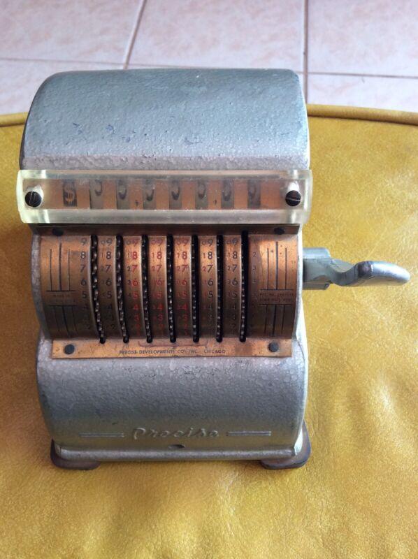 vintage Precise Adding Machine Made In Chicago 1940s