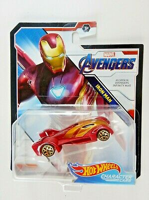 Iron Man Diecast Car (Marvel)(Character Cars) Hot Wheels (2017)