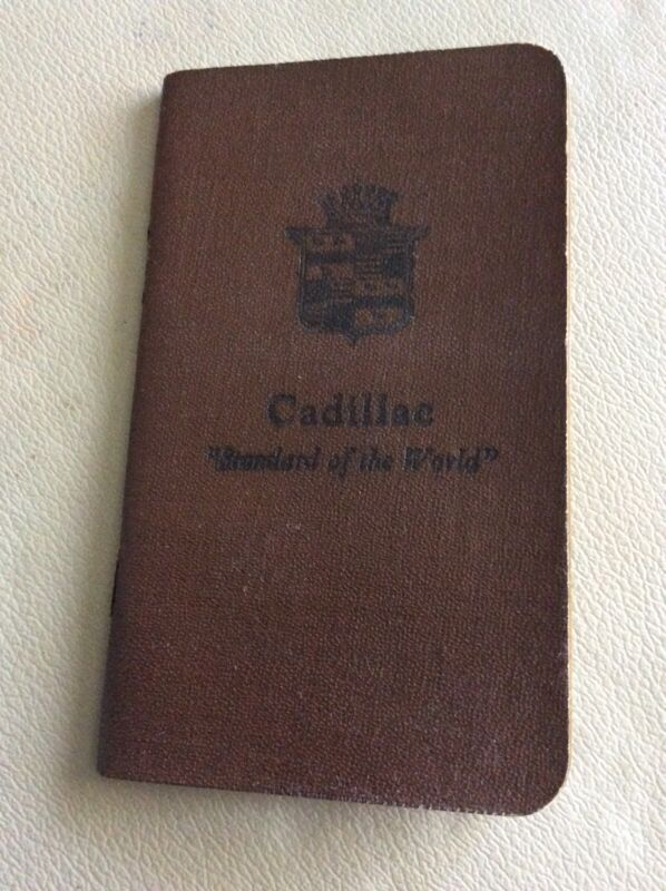 Antique Cadillac Standard Of The World Booklet Rare