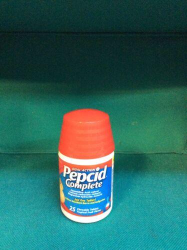 Pepcid Maximum Strength Famotidine Tablets 20mg Acid Reducer 25 tablets Exp9/22